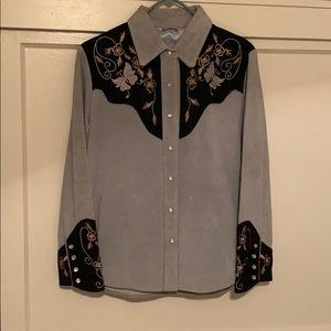 Scully Genuine Leather Western Shirt